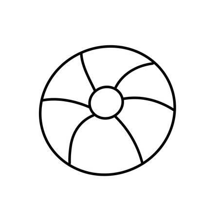 float protection summer isolated icon vector illustration design Ilustração