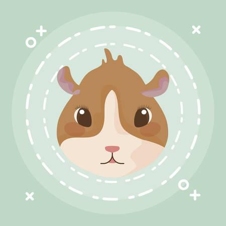 head of guinea pig baby animal vector illustration design Illustration