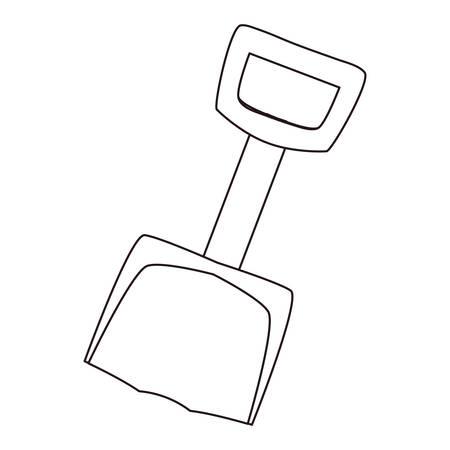 toy shovel on white background vector illustration Ilustrace