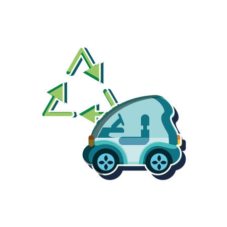 Car design, Eco city save planet think green and recycle theme Vector illustration