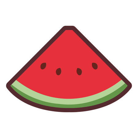sliced watermelon nutrition fresh fruit vector illustration