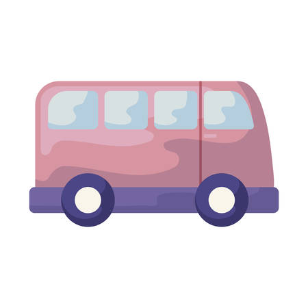 van vehicle transportation isolated icon vector illustration design