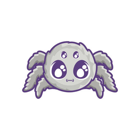 creepy spider animal on white background vector illustration design 向量圖像