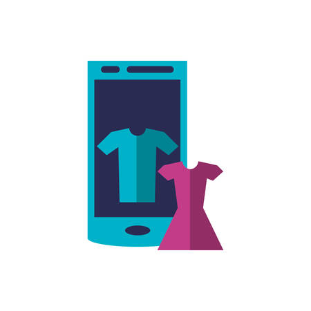 smartphone device with set clothes vector illustration design 일러스트