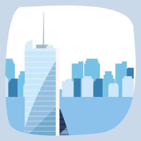 skyscraper urban city skyline background vector illustration