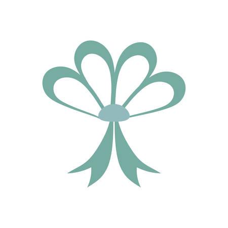 cute ribbon bow on white background vector illustration design