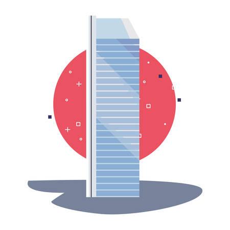 futuristic building urban tower icon vector illustration