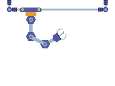 robotic hand industrial technology vector illustration design