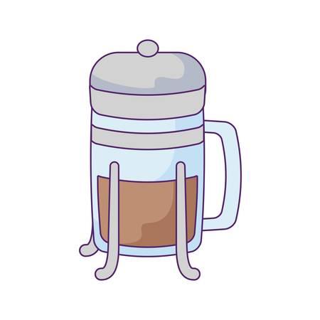 cup of beverage coffee isolated icon vector illustration design Illusztráció