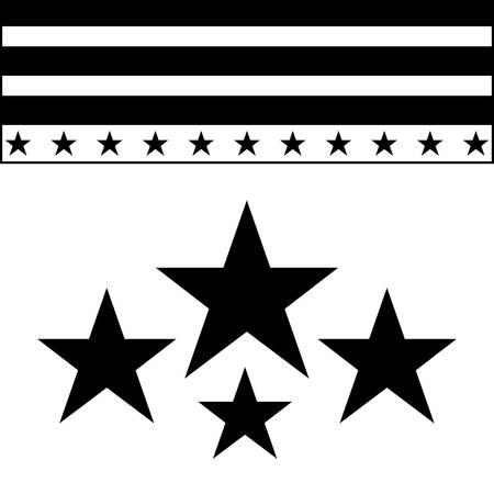 frame of united state american flag and stars decoration vector illustration design Archivio Fotografico - 134028578