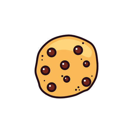 fresh and delicious chocolate cookie vector illustration design