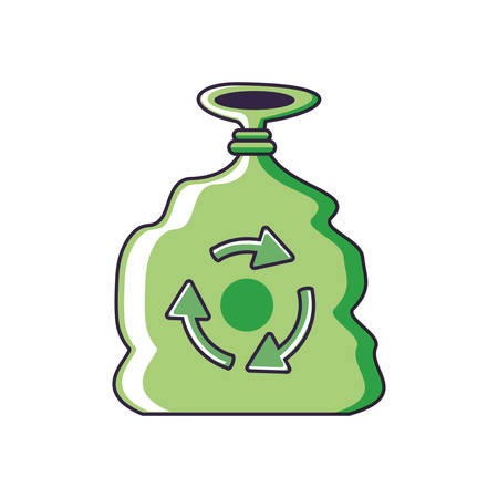 bag eco friendly isolated icon vector illustration design