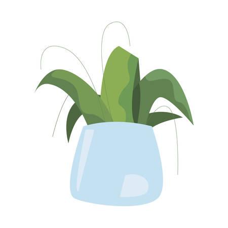 plant in pot on white background vector illustration Ilustração