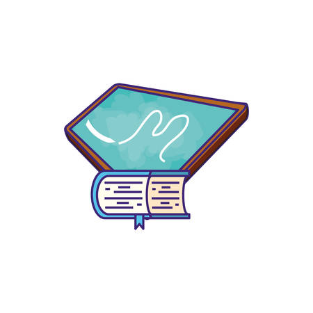textbook supply closed with board vector illustration design Ilustracja