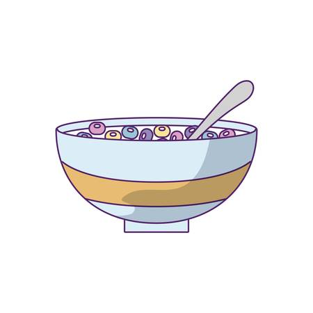 dish with cereal isolated icon vector illustration design