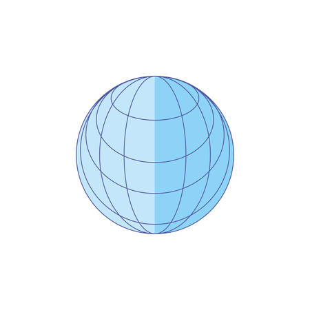 sphere browser technology isolated icon vector illustration design
