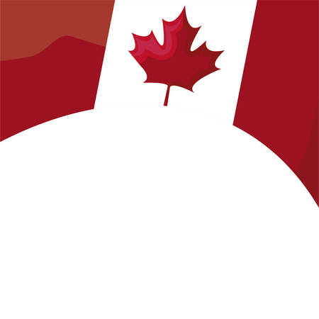 flag of canada patriotic icon vector illustration design Reklamní fotografie - 134050318