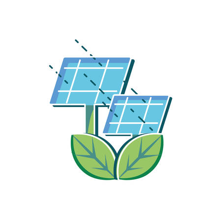 Solar panel design, Sustainability eco friendly green recycle ecology renewable and solution theme Vector illustration 일러스트