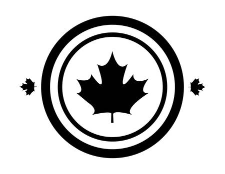 maple leaf canada in shape circle vector illustration design