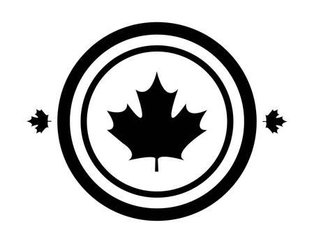 maple leaf canada in shape circle vector illustration design Reklamní fotografie - 134050726