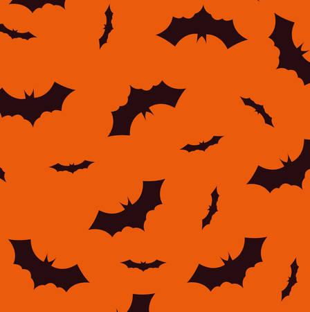 pattern of halloween bats backdrop vector illustration design 일러스트