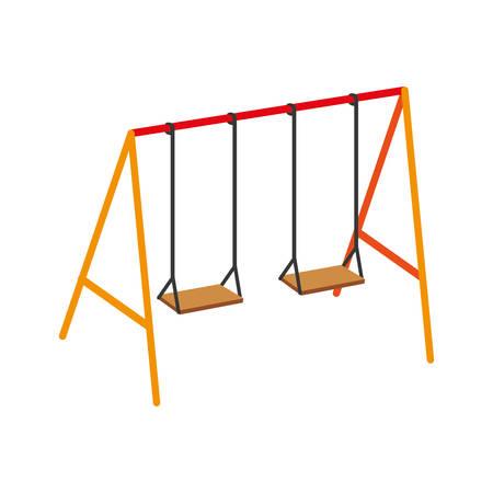 childrens swing on white background vector illustration design Illustration