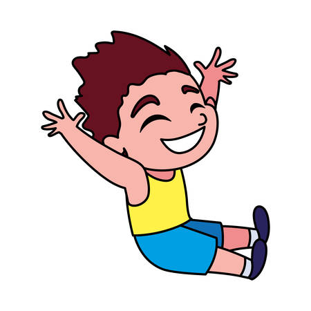 boy smiling on white background vector illustration design Illustration