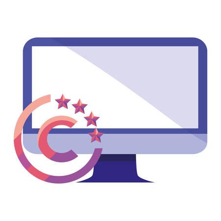 prawa autorskie do projektowania ilustracji wektorowych intelektualnego komputera cyfrowego Ilustracje wektorowe