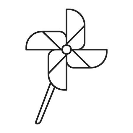 fan windmill toy isolated icon vector illustration design