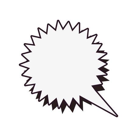 comic speech bubble on white background vector illustration