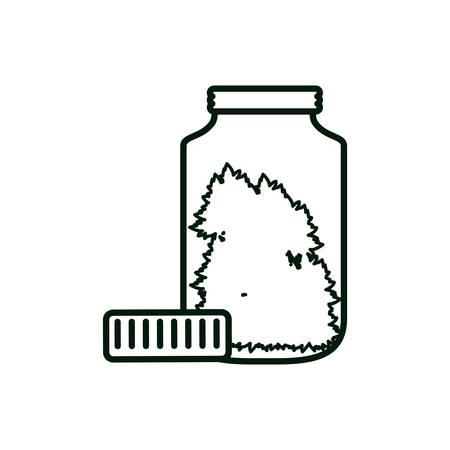 cannabis bottle product medicine icon vector illustration design