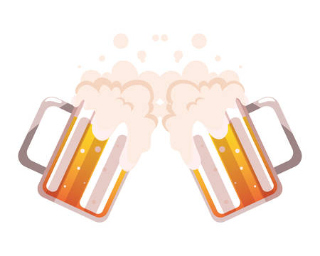 mug of beer in white background vector illustration design