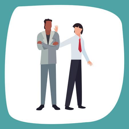 two men avatars on white background vector illustration Ilustracja