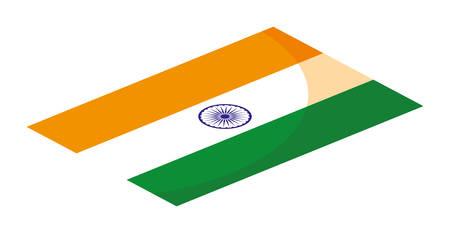 india independence day flag symbol flat design vector illustration