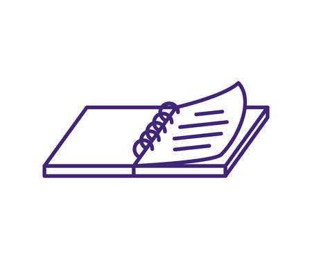 notebook school supply isolated icon vector illustration design