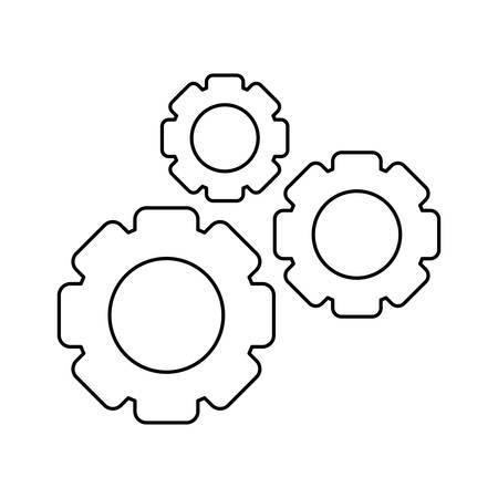 gears pinions machine isolated icon vector illustration design Ilustrace