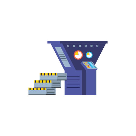 industrial production machine isolated icon vector illustration design Ilustração