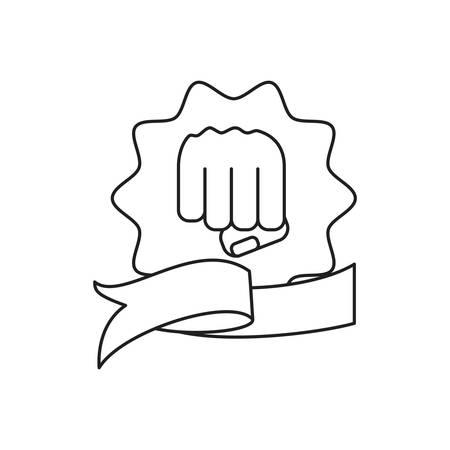 hand fist power in seal isolated icon vector illustration design Ilustração