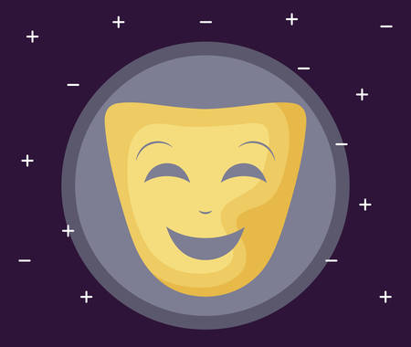 mask theater traditional isolated icon vector illustration design