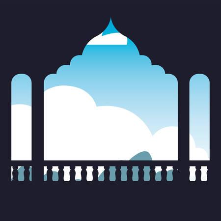 india independence day frame landscape vector illustration 版權商用圖片 - 134051924