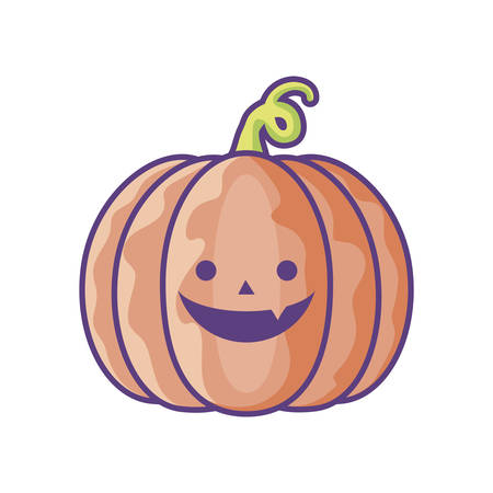 halloween pumpkin on white background vector illustration design