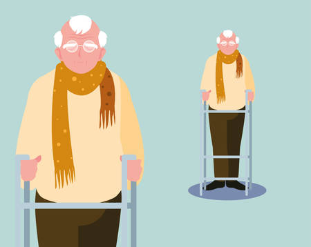 old man elder elderly adult aged vector ilustration