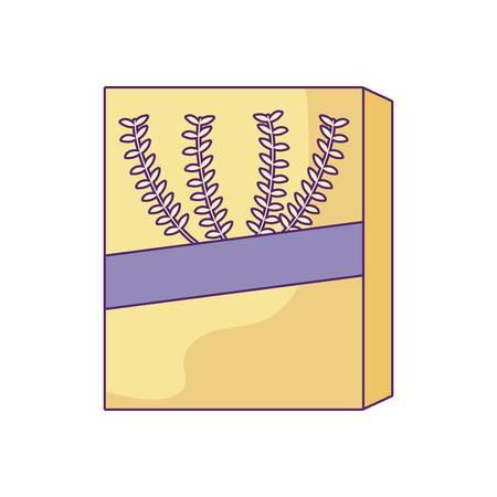 pudełko zbóż na białym tle ikona wektor ilustracja projektu Ilustracje wektorowe