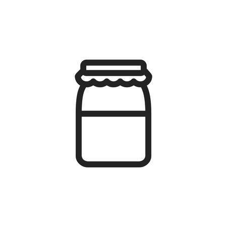 jar design, Kitchen supply domestic household tool cooking and restaurant theme Vector illustration