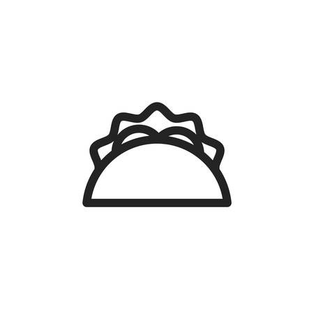 taco icon design, Eat food restaurant menu dinner lunch cooking and meal theme Vector illustration