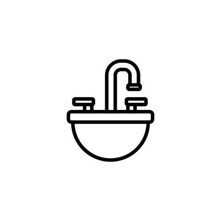 water tap design, Construction work repair reconstruction industry build and project theme Vector illustration