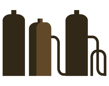 oil industry plant scenery vector illustration design Illustration