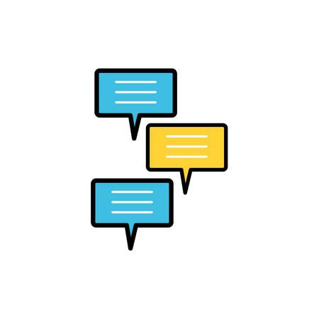 speech bubbles social media icons vector illustration design