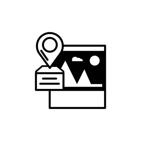 picture file with pin location vector illustration design 일러스트