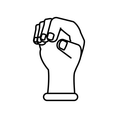 hand fist avatar character vector illustration design Ilustração